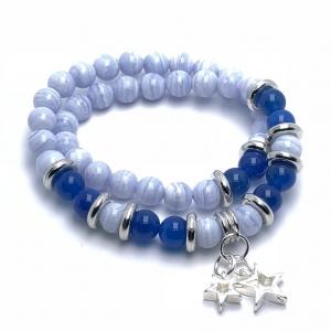 IMG 2528 Armband GABUDIA Chalcedon Blau versilbert Armband
