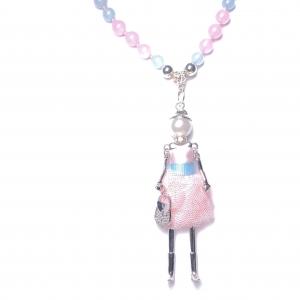 IMG 3517 2 Armband GABUDIA Chalcedon Halskette geknüpft
