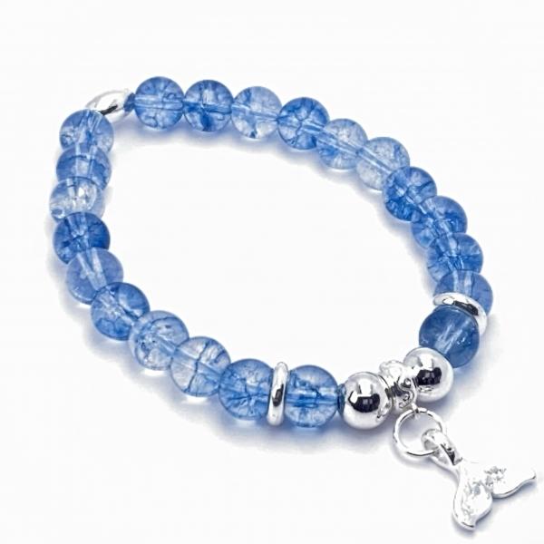 Blauer Quarz Dragon