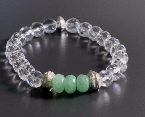 Bergkristall Jade