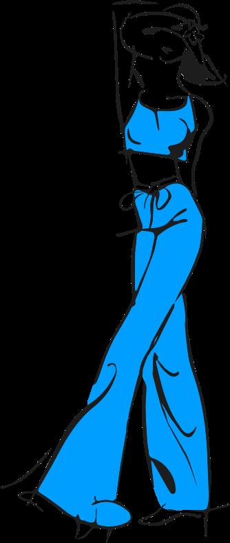 puppy stehend blau